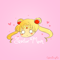 Sailor Moon Mini Sticker by AndreaJacqLee