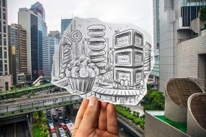 Pencil Vs Camera (Study in Hong Kong) by BenHeine