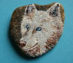 Rock painting - Wolf by ShadowofWolf200