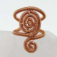 Coiled Copper Spiral Ear Cuff by sylva