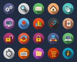 Web Flat Icons by Alexgorilla