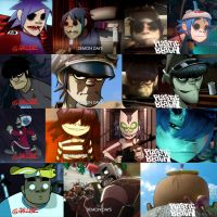 The Evolution of Gorillaz by Barloq