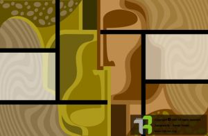 Abstract Two half occurred by Arousha