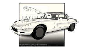 Jaguar E-Type LineArt by MarisDesign