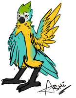 Azul the Blue and Gold Macaw! by LaydeeKaze