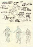 Moar concept sketches by ModalMechanica