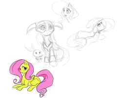 fluttershy the dovakhin by sidewinder36