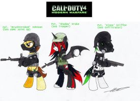 COD4-MW Ponies (SAS) by AZ-Derped-Unicorn