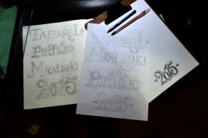 Lettering - 2015 Sketch by Luciux