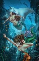 Little Mermaid #3 color by Kromespawn