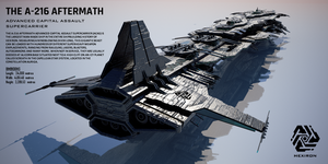 A-216 Advanced Capital Assault Supercarrier (ACAS) by Universe-of-Dusk