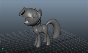 Twilight 3D Maya Model by SkittlesThePony1