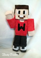 Wade Minecraft Plushie by BarelyCreative
