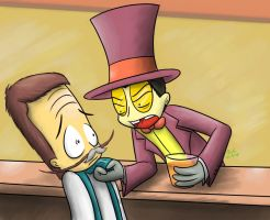 Superjail - At the Bar by Tikara-the-Mew