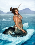 Narwhal Mermaid by daPatches