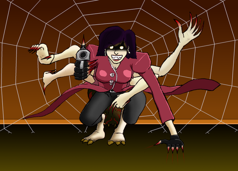 Arachne-possessed Natasha by SpoonyBardOL