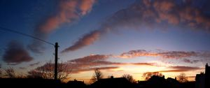 Suburban Sunset Panorama by SquirrelGirl111