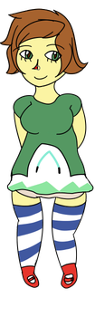 Green Dressed Smasher by CooCatDiva