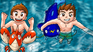 P-Chat: Swimming with Pokemon by MarioRoz