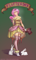 Fluttershy vintage humanization by sparrow-chan