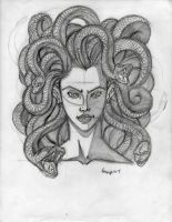 Medusa face sketch finished by TefenTheScorpion