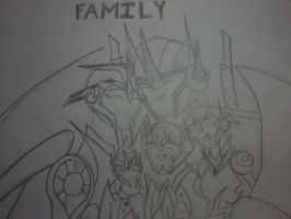 Arcee/Optimus: Family by QueenPrime