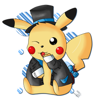 Fancy Pikachu by Magic-Kirito