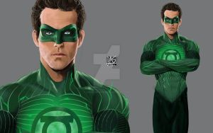 Ryan Reynolds as Green Lantern by daniel-morpheus