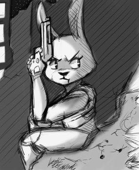 Judy Hopps shoot out by NoodleSoupy
