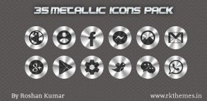 35 Metallic png icons set by Rkthemes