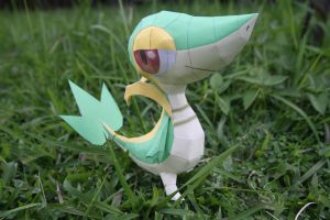 Snivy Papercraft by eXaLpHaXe