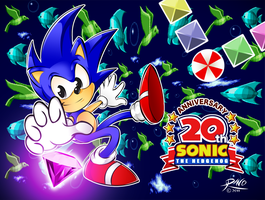 Sonic 20th Anniversary by R-no71