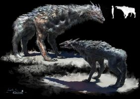 Creature Dog ConceptArt by samice