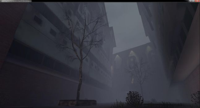 Courtyard wall in UDK game engine by Chriskb