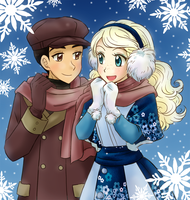 Ira and Noelle - Commission by chikorita85