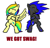 KAMICOKITTYCAT competition entry: we got swag by bloostormbrony