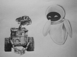 Wall-E and Eve by hglucky13