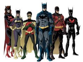 Bat family colored by phil-cho