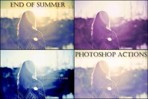 End of Summer Photoshop Actions by ibjennyjenny