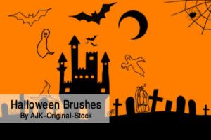 Halloween Brush pack by AJK-Original-Stock
