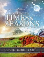 God Determines Times And Seasons Church Flyer by loswl