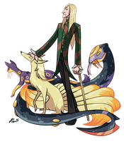 Lucius Malfoy the Pokemon Trainer by bPAVLICA