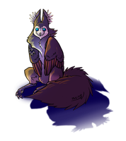 Owl Griffon Thing I Colored by SabreBash