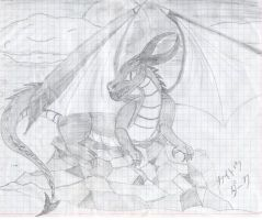 Dragon in the cliff by KaitouDark19