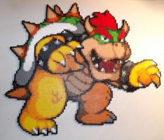 Bowser Perler Bead Art by kamikazekeeg