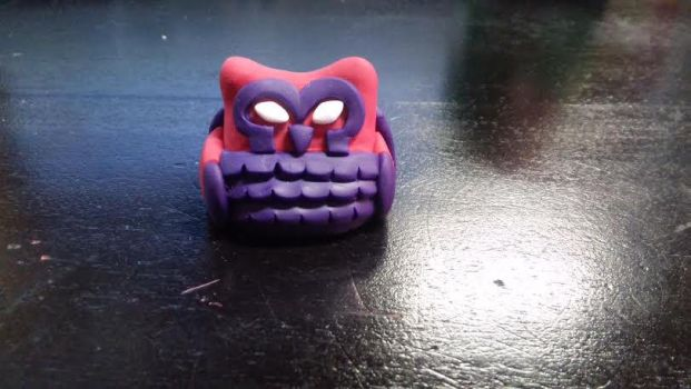 Magneto Owl Figure by TheOwlsRoost