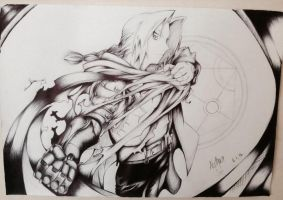 Ed - FMA pen drawing by megaflameable