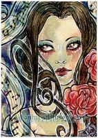 ACEO :: Song For A Silent Rose by StefaniaRusso