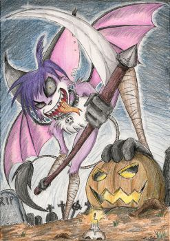 .:Contest Entry:. Evil Tilki: Trick or Treat? by SoulEaterSaku90