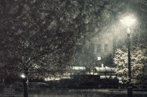 Light, Dark and snow by Piroshki-Photography